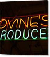 Iovines Produce Canvas Print