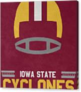 Iowa State Cyclones Vintage Football Art Canvas Print