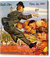 Iowa Vs Ohio State 1957 Program Canvas Print