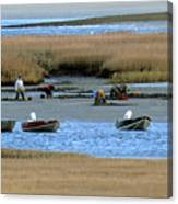 Ipswich River Clammers 2 Canvas Print