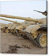 Iraqi T-72 Tanks From Iraqi Army Canvas Print
