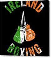 Ireland Boxing Color Light Boxers Irish Cool Gift Funny Flag Canvas Print