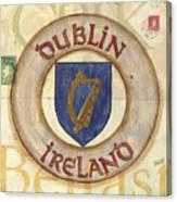 Ireland Coat Of Arms Canvas Print