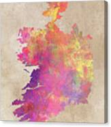 Ireland Map  Canvas Print