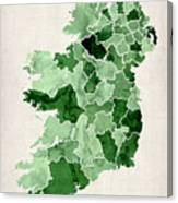 Ireland Watercolor Map Canvas Print