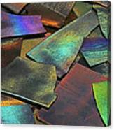 Iridescence Angles, Curves Greens Blues Browns Rusts Yellows Geometric 2 8312017  Canvas Print