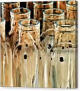 Iridescent Bottle Parade Canvas Print