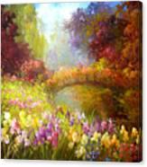 Iris-- Covered Bridge Canvas Print
