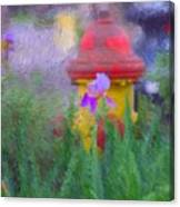 Iris And Fire Plug Canvas Print