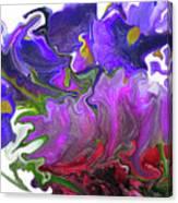 Iris And Tulip Canvas Print