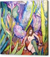 Iris Grantor Of Hope Wisdom And Inspiration - Watercolor Canvas Print