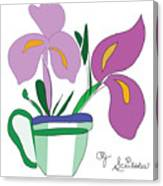 Iris Scribble Canvas Print