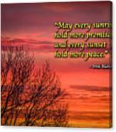 Irish Blessing - May Every Sunrise... Canvas Print