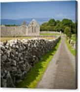 Irish Church Ruins Canvas Print