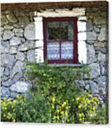 Irish Cottage Window County Clare Ireland Canvas Print