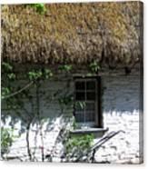Irish Farm Cottage Window County Cork Ireland Canvas Print