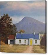 Irish Farmhouse Near Croagh Patrick Canvas Print