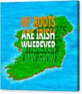 Irish Roots Typographical Art Canvas Print