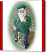Irish Santa Card Canvas Print