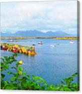 Roundstone Seaport Canvas Print