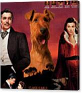 Irish Terrier Art Canvas Print - Gone To The Wind Movie Poster Canvas Print