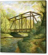 Iron Bridge Over Cicero Creek Canvas Print