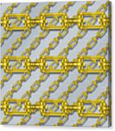 Iron Chains With Brushed Metal Seamless Texture Canvas Print