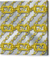 Iron Chains With Brushed Metal Texture Canvas Print