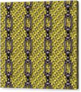 Iron Chains With Knit Seamless Texture Canvas Print