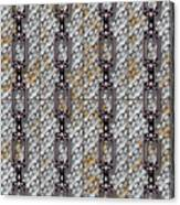 Iron Chains With Metal Panels Seamless Texture Canvas Print