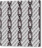 Iron Chains With White Background Seamless Texture Canvas Print