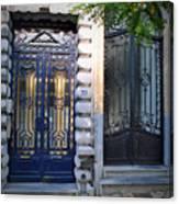 Iron Door Of Brussels Canvas Print