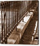 Iron Fence With Shadows Canvas Print