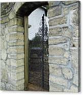 Iron Gate To The Garden Canvas Print