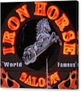 Iron Horse Saloon In Neon Canvas Print