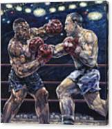 Iron Mike Vs. Rocky Canvas Print