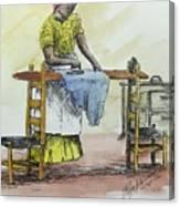 Ironing Day Canvas Print