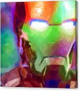 Ironman Abstract Digital Paint 1 Canvas Print