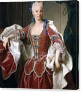 Isabella Farnese. Queen Of Spain Canvas Print