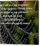 Isaiah Scripture  Canvas Print