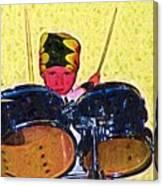 Isaiah The Drummer Canvas Print