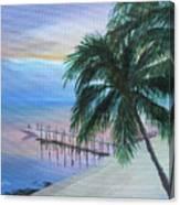 Isla Morada Sunset Canvas Print