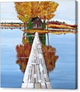 Island Cabin 2 Canvas Print