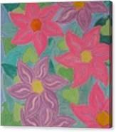 Island Flowers Canvas Print
