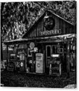Island Grove Service Station Canvas Print