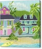 Island Houses Canvas Print