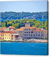Island Of Krapanj Waterfront View Canvas Print