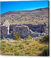 Island Of Krk Old Stone Ruins Canvas Print