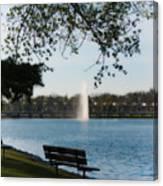 Island Park In Portage Canvas Print