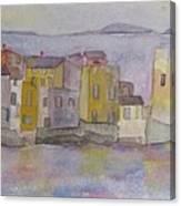 island village in Corsica Canvas Print